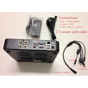 4 Channel Kits 720P AHD 12V 4A