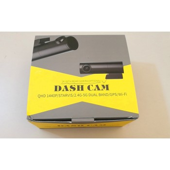 Dash Cam Front + Rear Cam (Optional) BNF-01: QHD 1440p 2.4G-5G Dual Band with GPS and Wifi