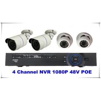 4 Channel Kits 1080P NVR 48V POE